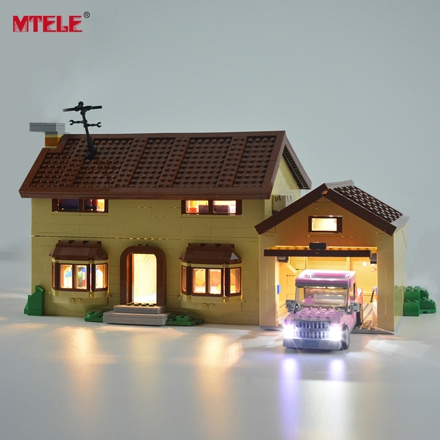 MTELE led ışık kiti 71006 Simpson evi ışık seti ile uyumlu 16005 (dahil değil Model)