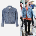 Страх божий S-XL Весте Kanye West Yeezy Мужчины Одежда Хип-хоп Брендовая Одежда Gd Куртки Пальто Джастин Бибер Жан Джинсовая Куртка