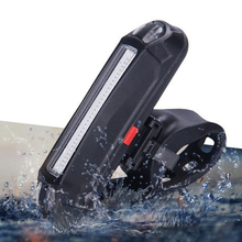 New Portable USB Rechargeable 6 Mode Dual Color LED Bike Light Bicycle Tail Safety Warning Rear Light Bicycle Accessories