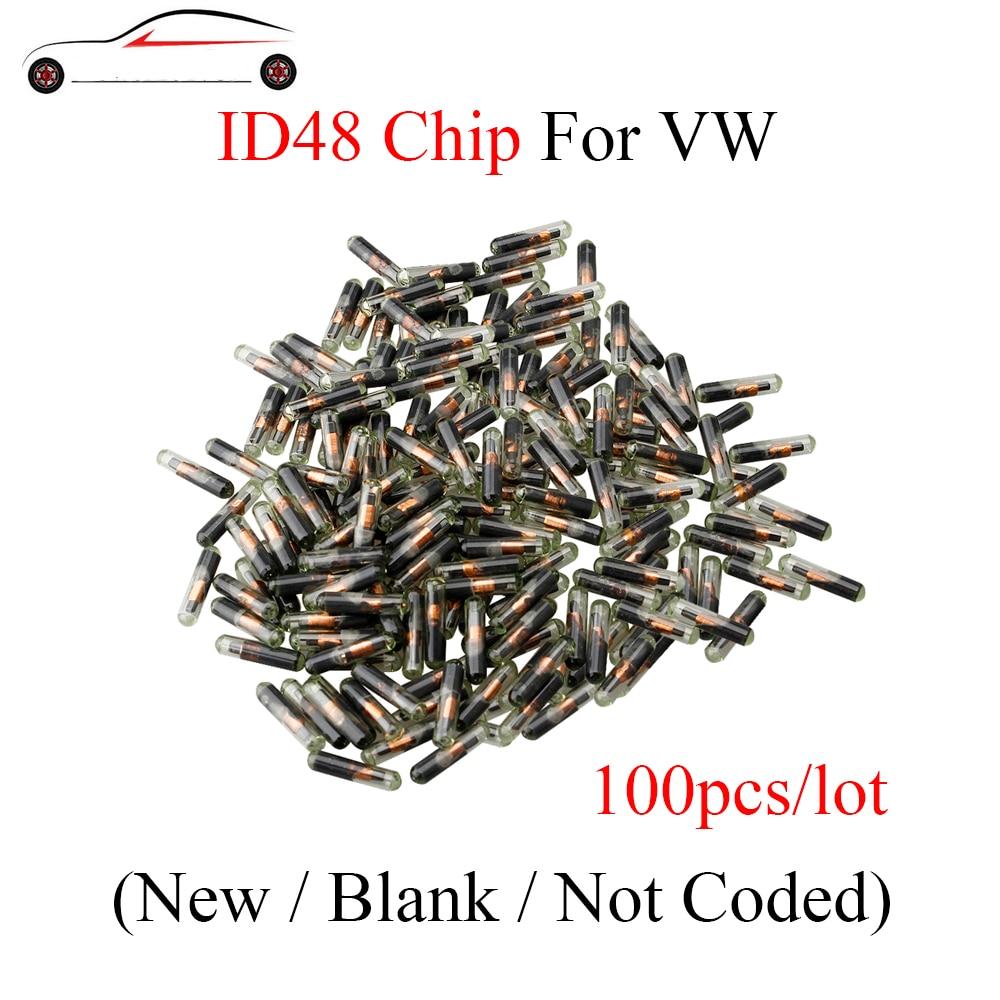 GORBIN 100pcs ID48 Glass Transponder Chip car key transponder chip id 48 For VW AUDI OEM