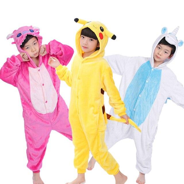 1ad83d4161 Unicornio Stitch pijamas para niños Anime Onesie Cosplay traje pijamas niños  niñas invierno Navidad bebé pijama