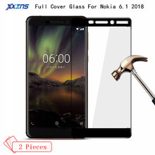 2Pcs lot Tempered Glass For Nokia 6.1 2018 Full Screen coverage Protector on smartphone nokia 6 9H Toughened Protective Film