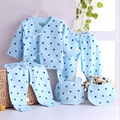 5pcs/set Newborn suits Baby Clothing Set Brand Baby Boy/Girl Clothes Cotton Cartoon bear Underwear 3 colors