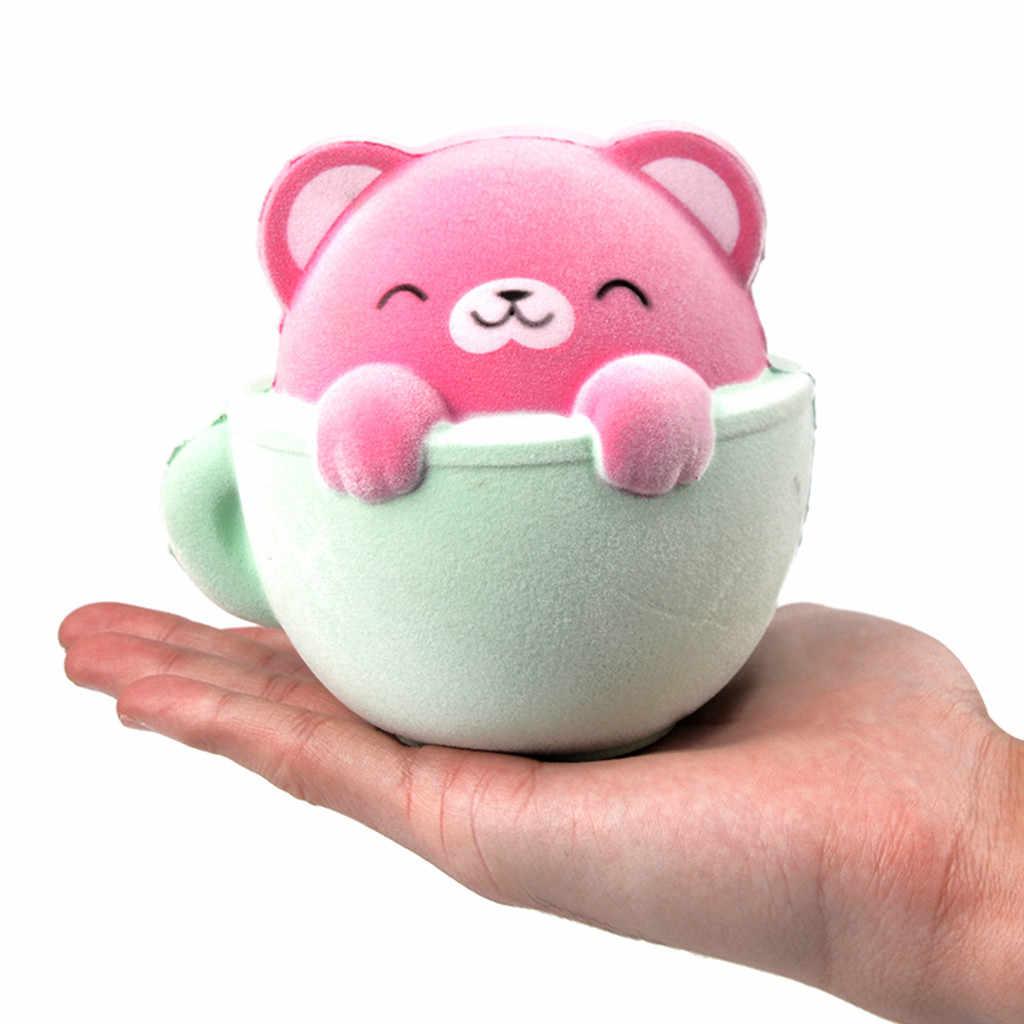 Chat à fourrure parfumé lente augmentation Squishies jouet squis soulagement du Stress jouet Squishy jouet pour enfants Squish Antistress jouets 19May07 P35
