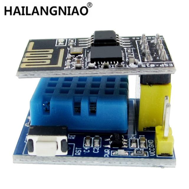 ESP8266 ESP-01 ESP-01S DHT11 de temperatura y humedad Sensor módulo esp8266 Wifi NodeMCU casa inteligente IOT, Kit de bricolaje,