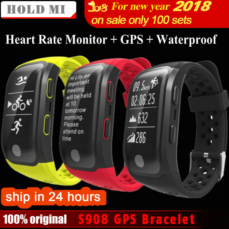Mantener Mi S908 GPS Banda Inteligente IP68 A Prueba de agua Deportes Pulsera de Múltiples deportes Heart Rate Monitor Recordatorio de Llamada Smartband G03