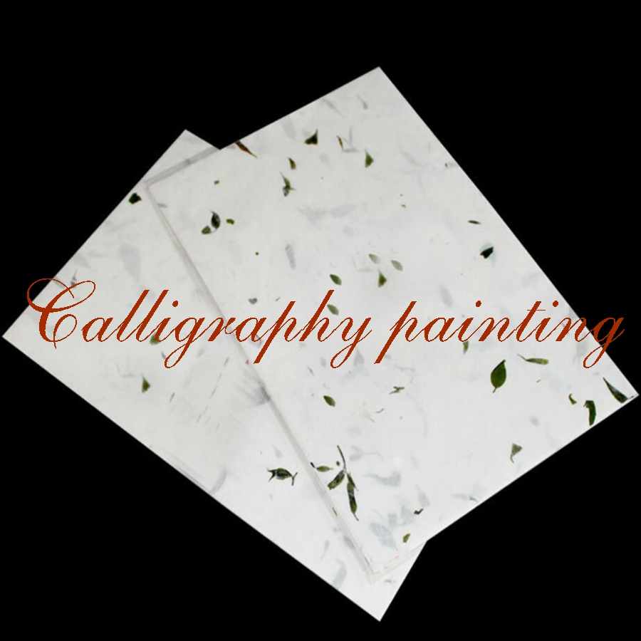 20 Pc Natural Plant Fibre Handmade Flowers Letter Rice Xuan Paper Calligraphy