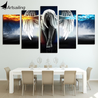 Framed Printed Angeles Girls Anime Demons Painting Children S Room Decor Print Poster Picture Canvas Free