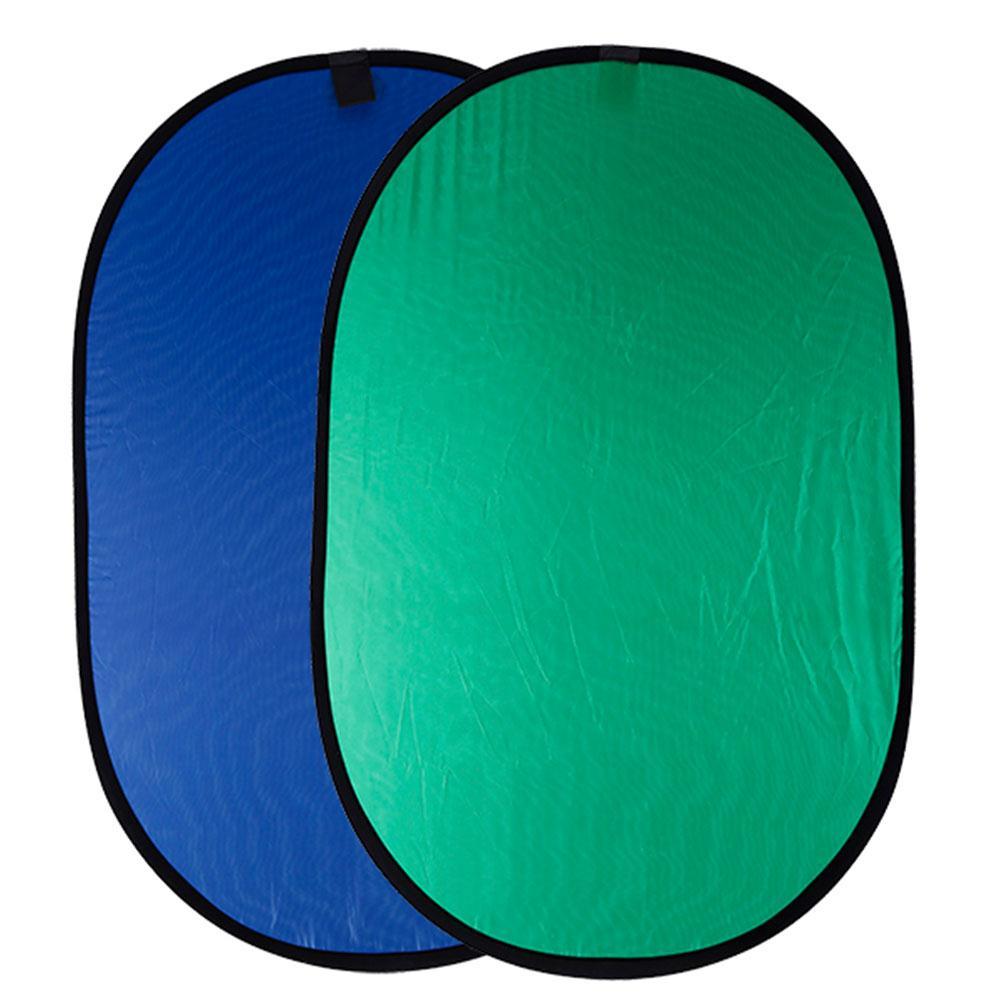 Cewaal Coton Photo Réflecteur Bleu Vert Ronde Photographie Pliant Pliable Portable Photo Réflecteur