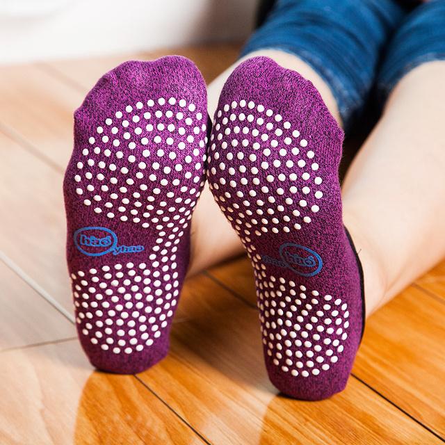 Good Grip Anti-Slip Cotton Pilates Socks for Women