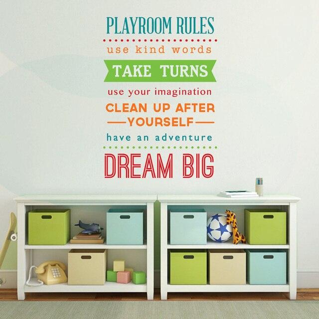 playroom wall decal playroom rules sign kids playroom wall art