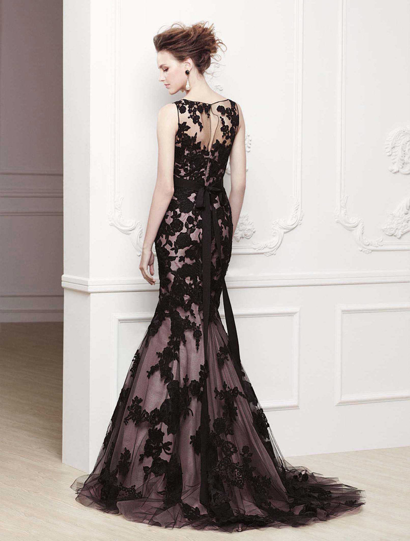 Free Shipping We 2417 Purple And Black Wedding Dress Lace Overlay In Dresses From Weddings Events On