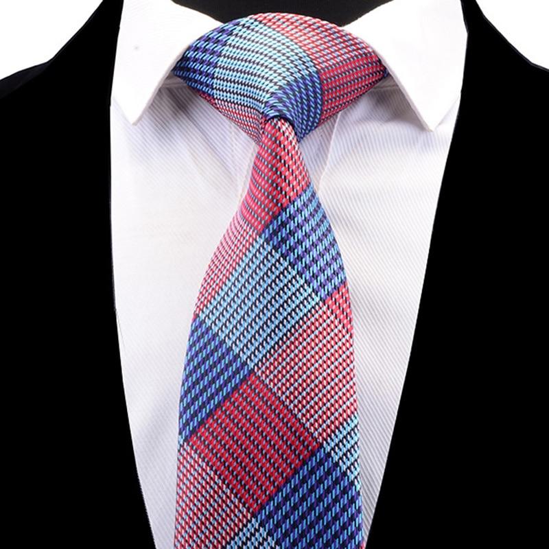 Ricnais New Arrival Floral Tie Jacquard Woven Silk Necktie Plaid Wedding Tie For Men Formal Striped Necktie Suit Business Party