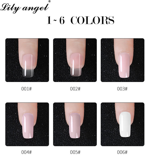 Lily Angel Poly Gel Acrylic  Nail Acrylic Poly Gel Crystal UV LED Builder Gel Tips Enhancement Slip Solution Quick Extension Gel 4