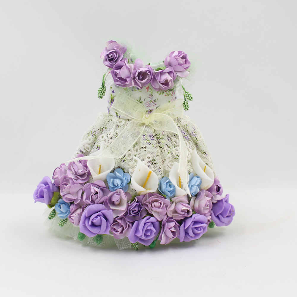 blyth doll clothes for colour lace flower dress it suitable for 1/6 30CM doll for children gift.
