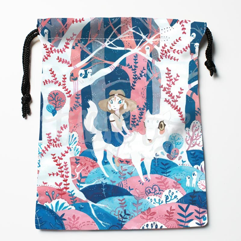 New Arrive Princess Mononoke Drawstring Bags Custom Storage Bags Printed Gift Bags More Size 27x35cm DIY Your Picture