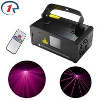ZjRight IR Remote 200mW Pink PRO Laser Stage Light DMX512 Laser Scanner Light Beam Effect Disco