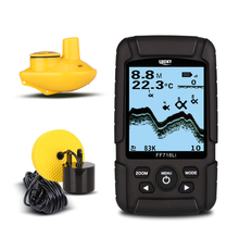 LUCKY FF718LiD Waterproof Fish Finder Wireless Sonar & Wired Transducer Detection 2.5′ LCD Alarm Fish Detector Multi-language