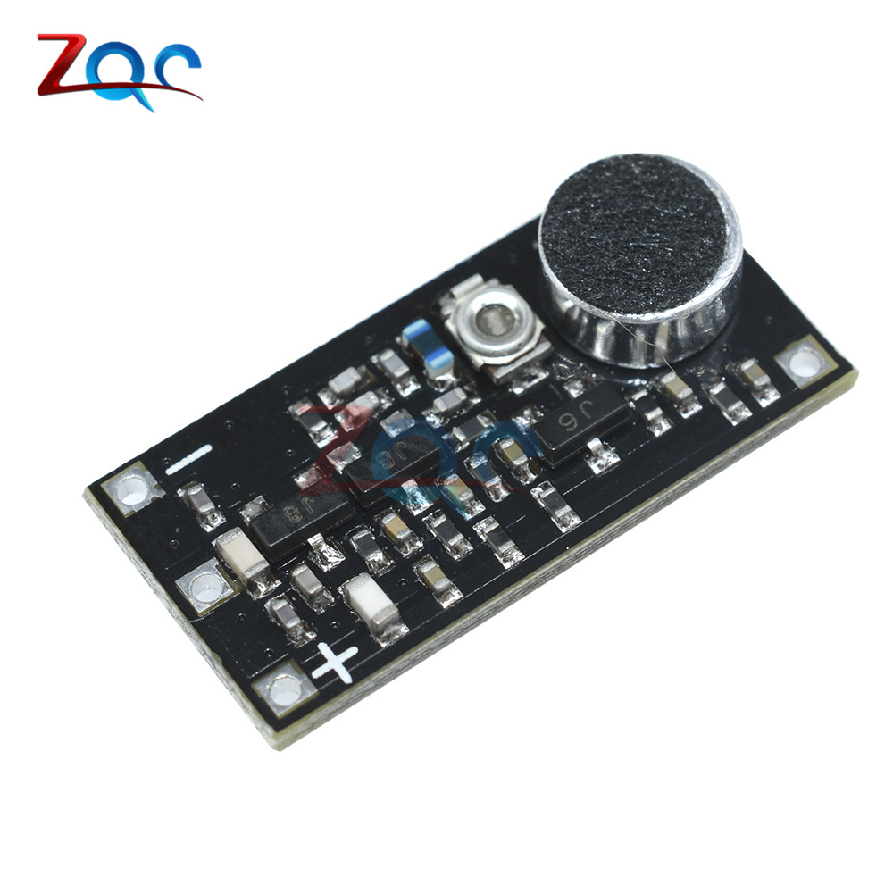 88-108MHz FM Transmitter Wireless Microphone Surveillance Frequency Board Module DC 2V-9V hottest fm transmitter digital module dsp pll wireless stereo microphone 87 108mhz