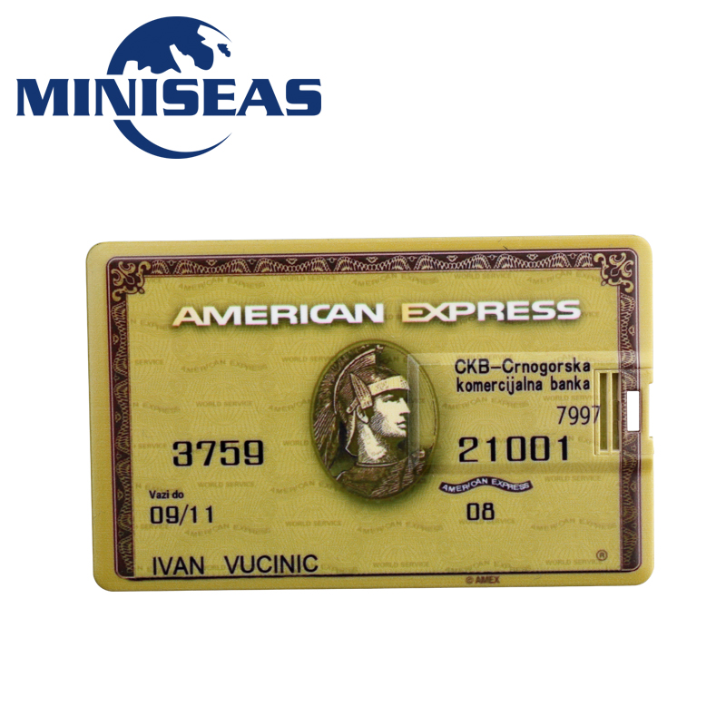 Miniseas Usb Flash Drive Bank Credit Card Model 4GB 8GB 16GB 32GB Pen Drive Pendrive Memory Stick Drive