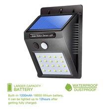 Oobest Solar Power Sensor Wall Light Wireless Motion Weatherproof Outdoor Lamp Security Garden Path Light