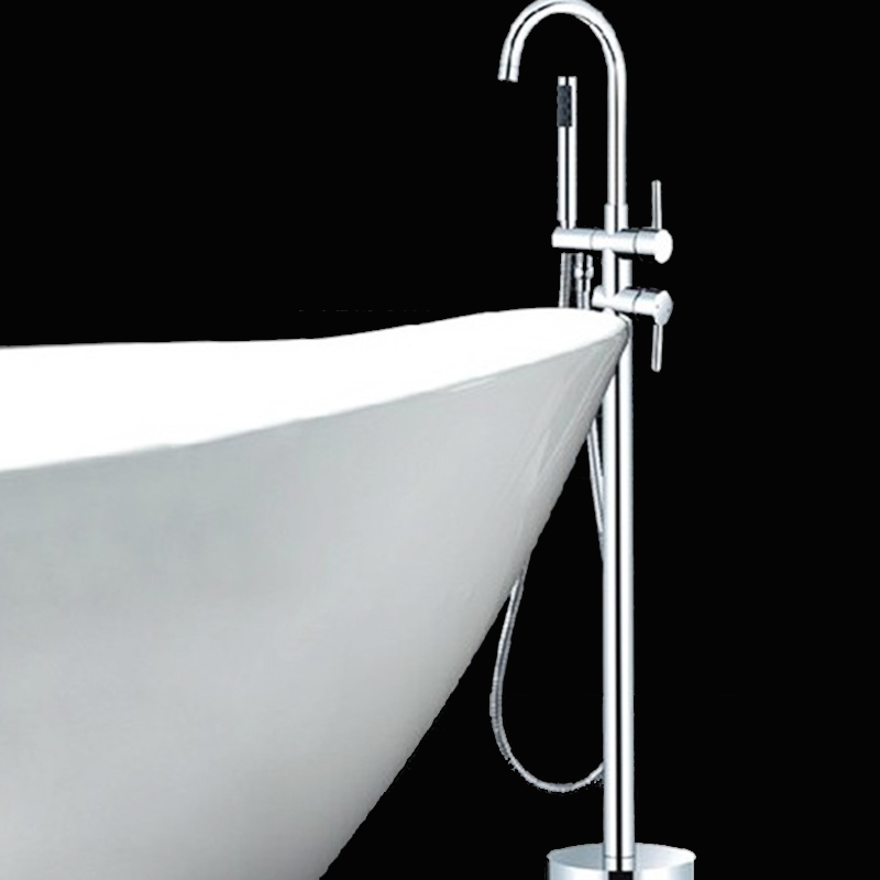 Standing Bath Tub Faucet Mounted Bathtub Mixer Tap With Handshower and ...