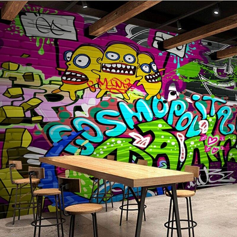 Beibehang Impresionante Personalized Graffiti 3d Wallpaper Inkjet