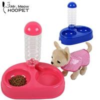 Double Bowl Birdbath Pet Drinking Fountain Cat Dogs Water Bowls Waterproof Basin Two Colors