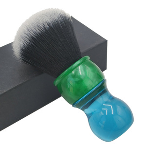 Image 2 - Escova de barbear sintética do cabelo do smoking de dscosmetic 26mm com punho da resina