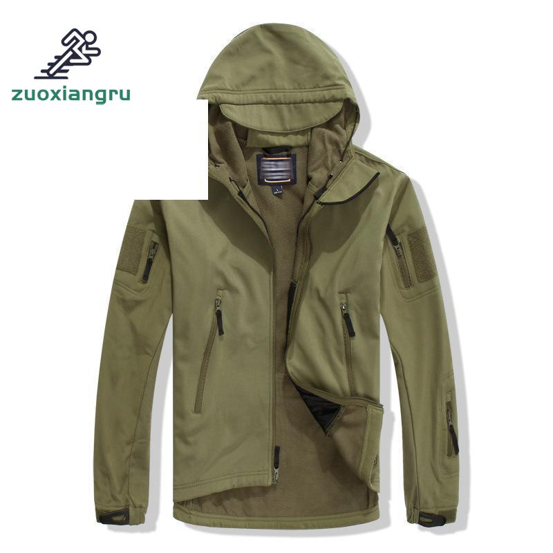 Shark Skin Soft Shell Outfits Men's Army Military Tactical Jacket Sweaters Windproof Waterproof And Male Warm Coat Hiking Jacket lurker shark skin soft shell v4 military tactical jacket men waterproof windproof warm coat camouflage hooded camo army clothing