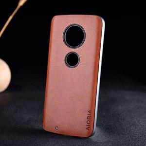 Image 3 - Case for Motorola Moto G7 G6 G5S Plus funda luxury Leather Vintage litchi pattern capa cover for moto g7 g6 g5s plus case coque