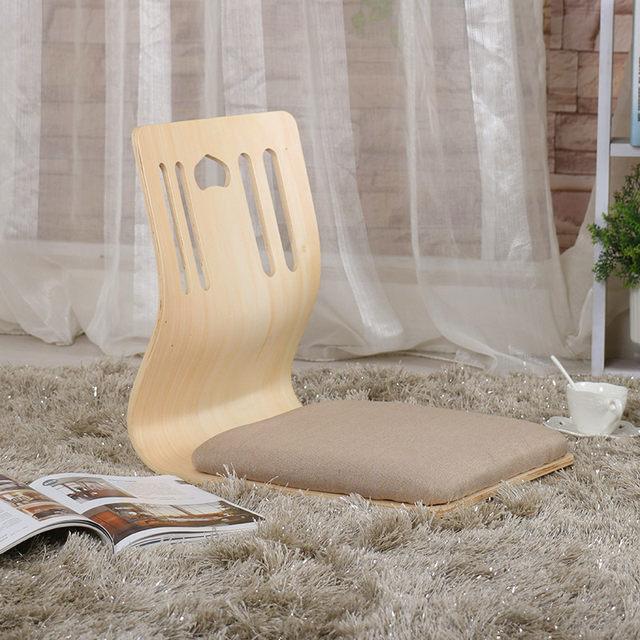 4pcs/lot Japanese Legless Chair Thick Cushion Seat Floor Seating Furniture  Asian Korean Living Room Tatami Floor Zaisu Chair