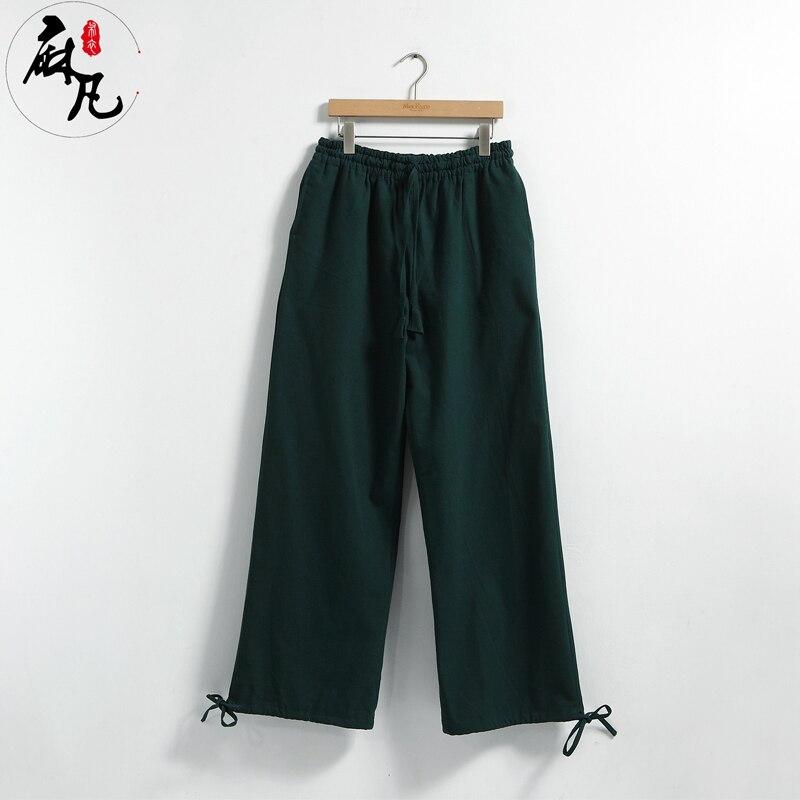 Erkekler Kung Fu Tai Chi Üniforma Pantalon Homme erkek Rahat - Erkek Giyim - Fotoğraf 4