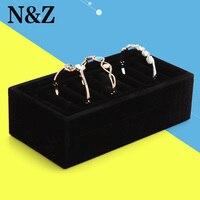 2015 BLACK High Quality Velvet 10 Cells Bracelet Jewelry Display Holder Stand Rack Bracelets Boxes Accessories