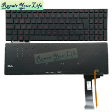 Laptop Keyboard Layout Backlight Asus G551 Repair for G551jw/G551jx/G551vw/.. Spain