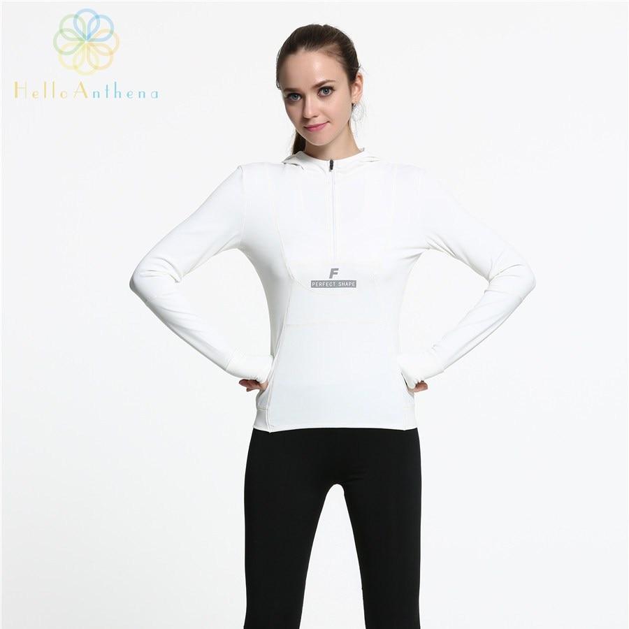 Hello Anthena Women Sports Hoodie Sweatshirt Autumn Winter Quick Drying Running Jacket