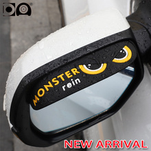 Car rearview mirror rain eyebrow stickers shade National flag design fit for Ford Kuga Fusion Fiesta Explorer Escape Ranger