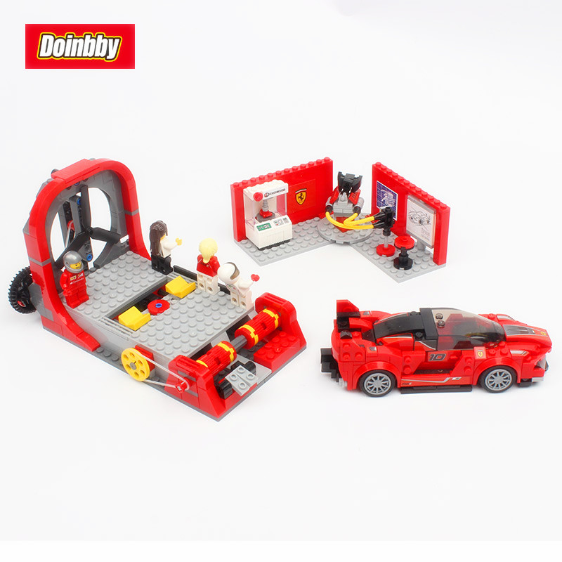 Lepin 28005 Technic Speed Champions Super Racer The FXX K and Development Center Set 532Pcs Building Blocks Bricks Toys 75882 hot racing italy horse logo fxx k