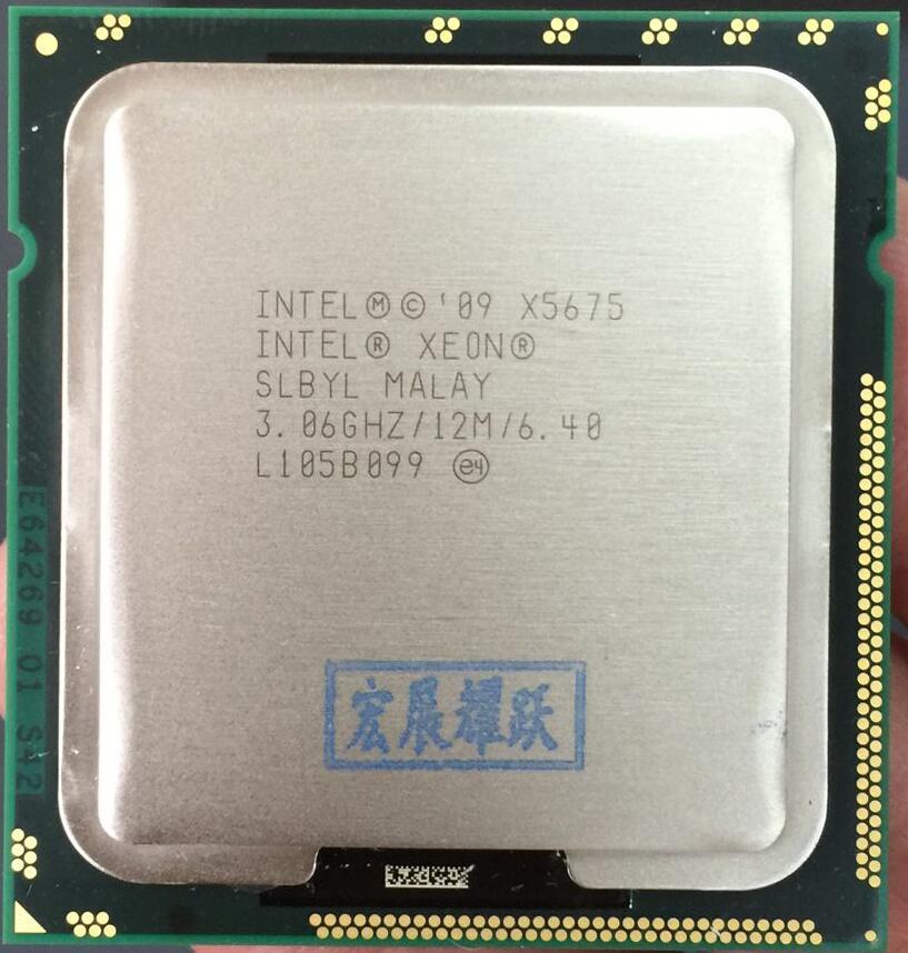 Processador x5675 intel xeon (cache de 12 m, 3.06 ghz, 6.40 gt/s intel qpi) cpu do servidor lga 1366