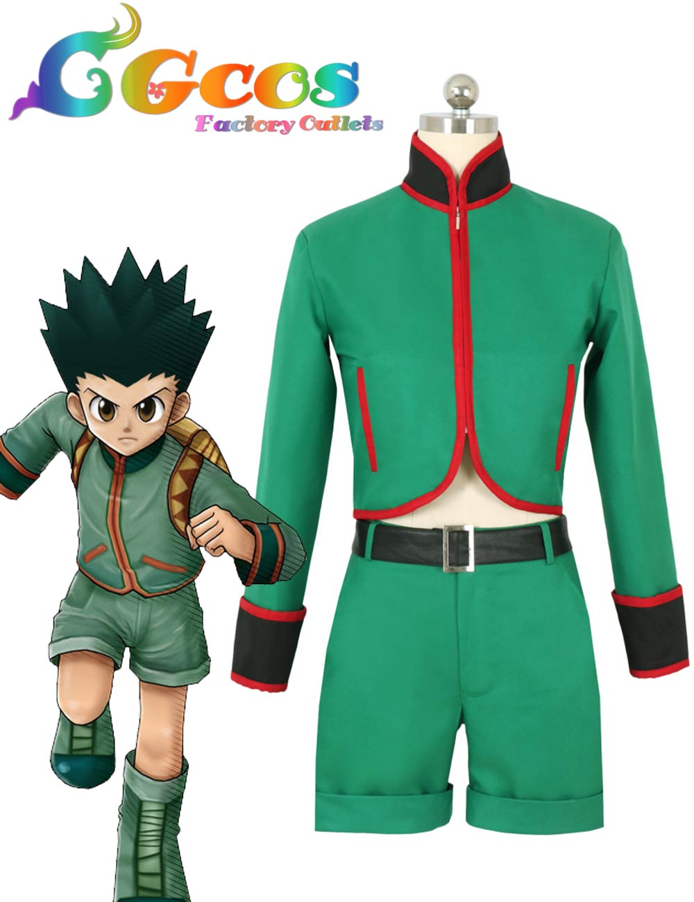 CGCOS Free Shipping Cosplay Costume Hunter X Hunter Gon Freecss New in Stock Retail / Wholesale Halloween
