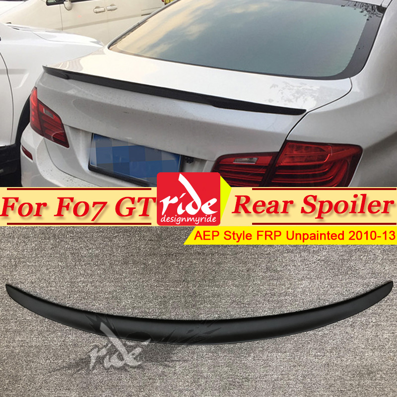 F07 GT Spoiler Rear Lip Wing FRP Unpainted Black P Style For BMW 535i 550i 535iGT 550GT Trunk 2010-2013