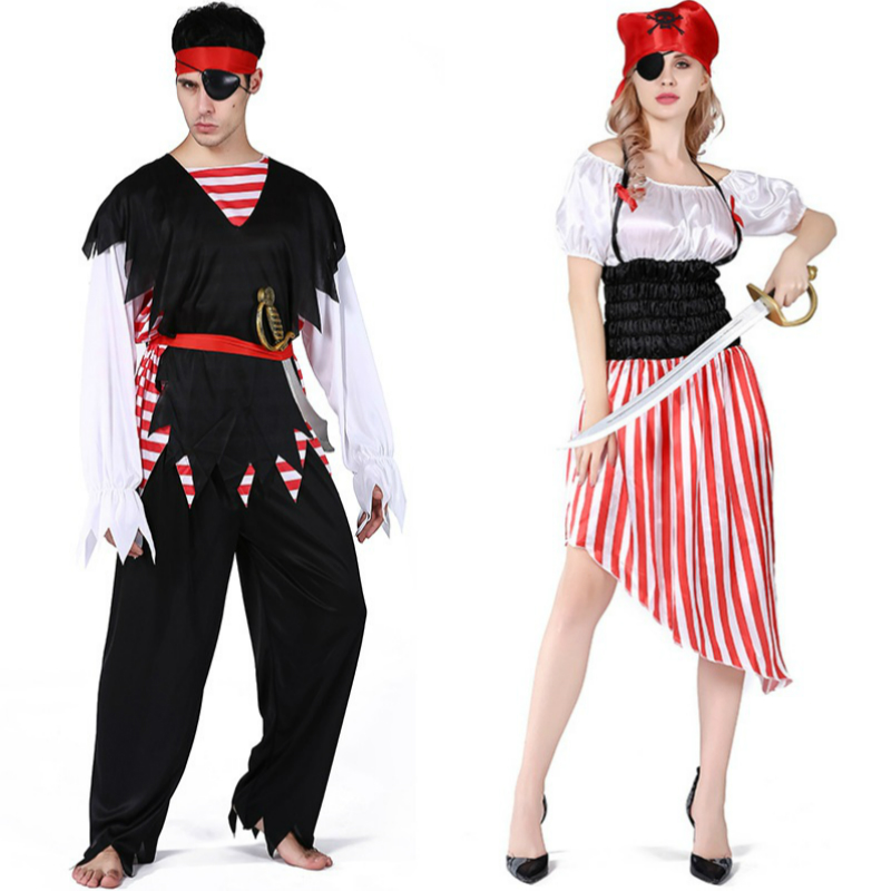Women Dress Cosplay Gloria Jeans Vestidos for Pirates of the Caribbean 18 Style Halloween Costume Adult Shimmer and Shine Party