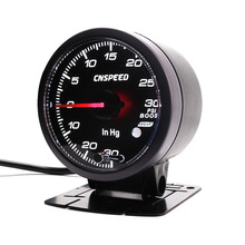 Free Shipping CNSPEED 60MM Racing Car Turbo Boost gauge 30~30 Psi Amber/White LED Light with peak Function  Gauge