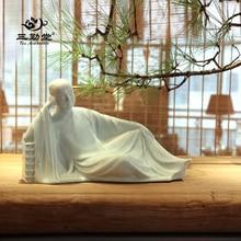 Antique Buddha Statue Handmade Ceramic Sculpture Monk Figure Tea House Decoration Furnishing Articles Home Ceramic Ornaments