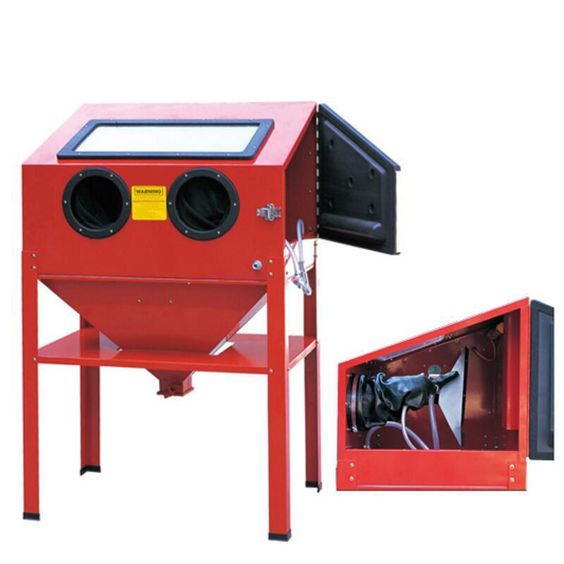 Manual Sand Blasting Machine Small Box Type Seal Dust free Rust Deburring Light Dry Blasting Machine Sanding Machine