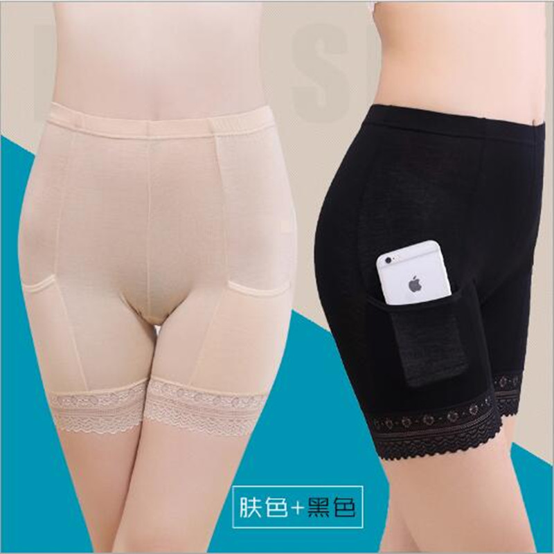 Women's Intimates Women Modal Long Leg Briefs With Pockets Girl Underwear Anti-light Safety Pants Anti-theft Knickers Bsd9058