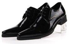 Мода черный/коричневый загар дерби обувь мужская бизнес обувь из натуральной кожи острым носом платье обувь мужская свадебные туфли