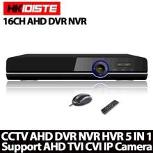 HKIXDISTE Super 16-КАНАЛЬНЫЙ AHD DVR AHD HD Полный 1080 P Видео рекордер H.264 CCTV Камеры Onvif Сети 16 Каналов IP NVR Multilanguage