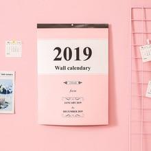 1Pcs Creative Large Calendar Wall Calendar 2019 Agenda Planner Organizer Daily Table Planner 2019.1~2019.12