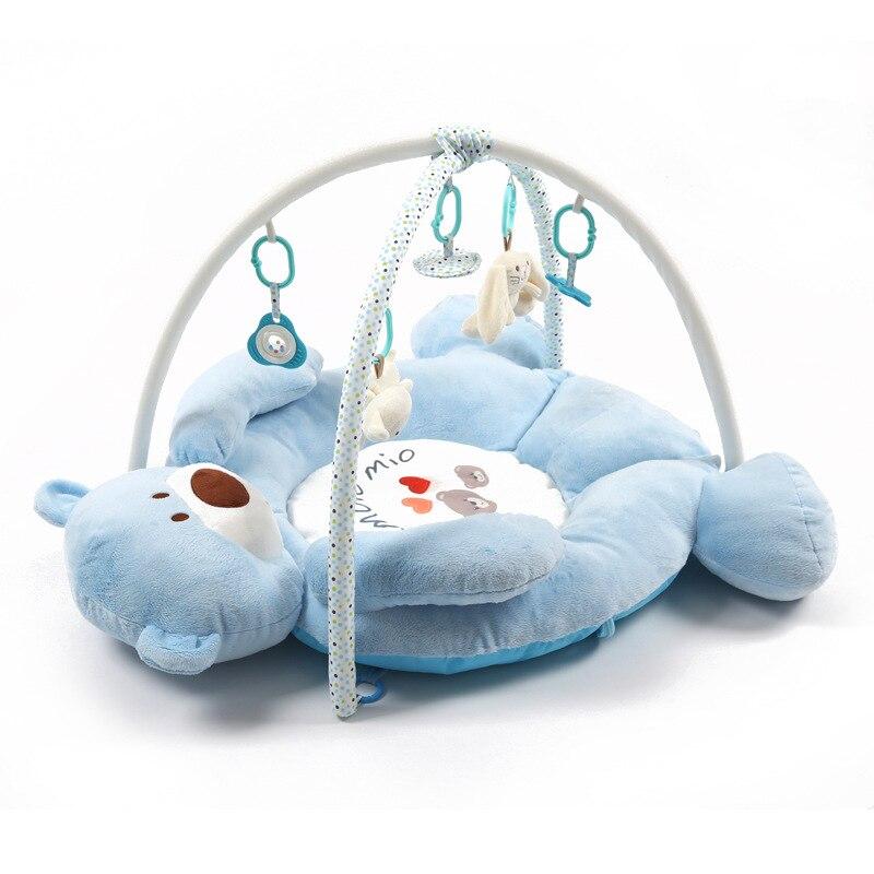 Tapis de développement de bébé pour les nouveau-nés épais tapis doux pour enfants avec hochet en peluche jouet Musical éducatif bébé activité Gym tapis de jeu - 3